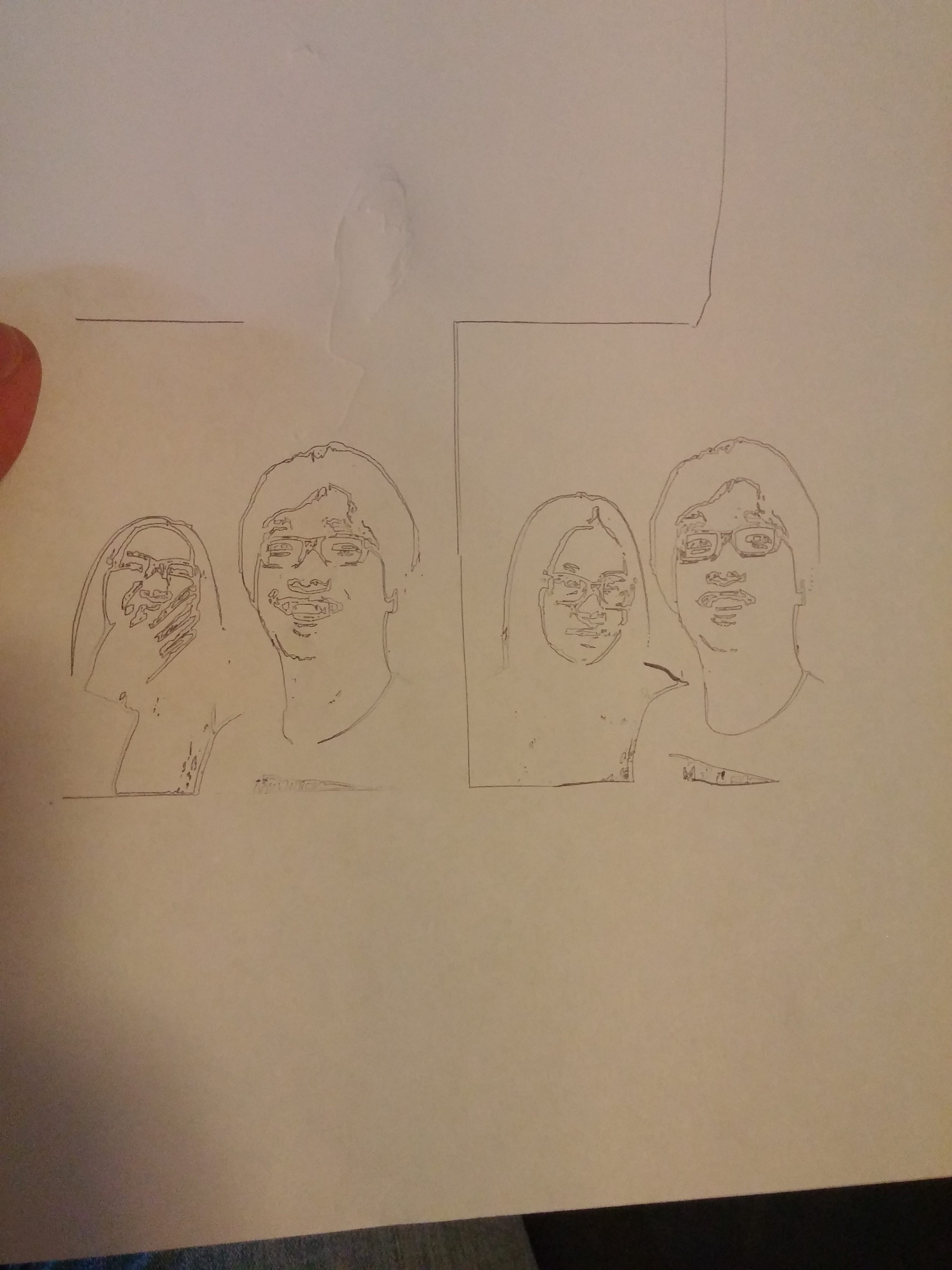 profile photo drawing